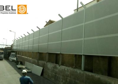Etapa de implementación de barrera acústica.