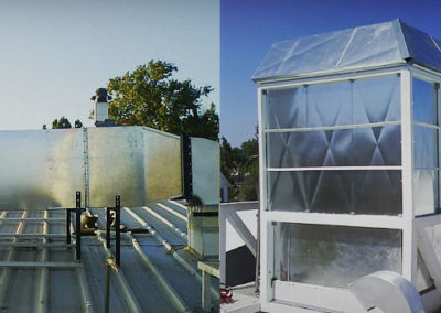 Supermercado. Solución acústica equipos de frío y extracción de aire.