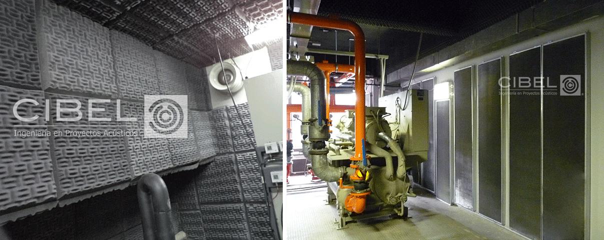 Acondicionamiento en sala de máquinas. Espuma y paneles.